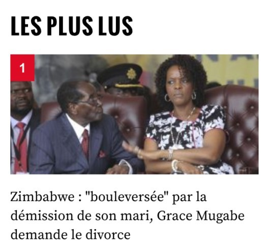 Mugabe's «Divorce»: the incredible fake news story relayed by L'Obs, Paris Match, CNews …